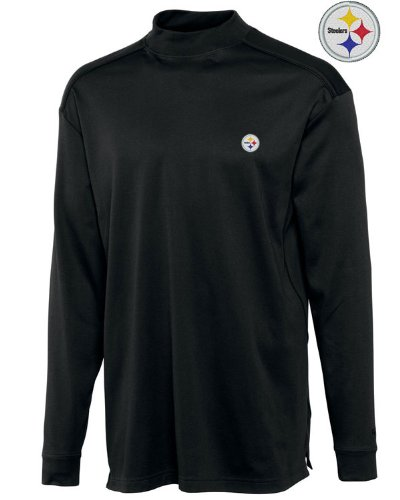 NFL Pittsburgh Steelers Men's CB DryTec Long Sleeve Imperial Mock, Small, Black at Amazon.com