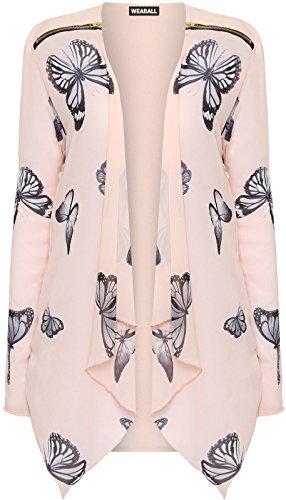 talla-grande-mujer-chifon-manga-larga-estampado-de-mariposas-cardigan-cremallera-blusa-para-mujer-si