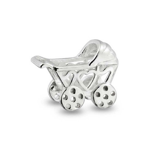 Bling Jewelry Baby Carriage 925 Sterling Silver Charm Bead Pandora Compatible front-198206