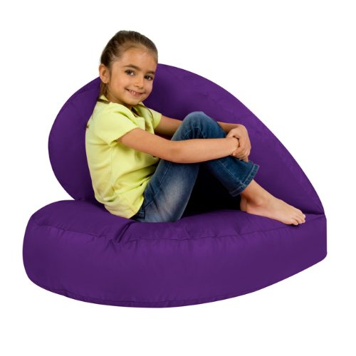 Kids Bean Bag Folding Heart Chair Indoor Outdoor - PURPLE Girls Bean Bags