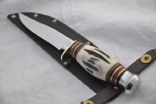 """New Hand Forged Genuine 8"""" Stag Bowie Sheffield L@@K!!"""