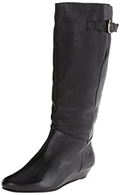 STEVEN by Steve Madden Women's Intyce Riding Boot,Black,5 M