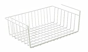 Wire World 20-Inch Under Shelf Basket, White