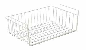 Metaltex USA Inc. 20-Inch Under Shelf Basket, White