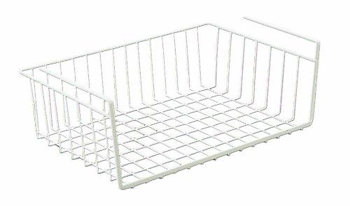 basket bin under shelf storage kitchen organizer rack wire. Black Bedroom Furniture Sets. Home Design Ideas