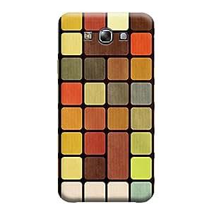 MakemyCase Samsung E7 Color Square with Black Background 3D Matte Finishing Printed Designer Hard Back Case Cover (Multicolor)