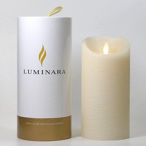 LUMINARA ローズの香り [リモコン対応バージョン] キャンドル型LEDライト ルミナラ ピラー タイマー機能付き 3.5 x 7 (Φ90×H190mm)