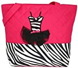 Girls Pink Zebra Ballet Tutu Tote Dance Bag