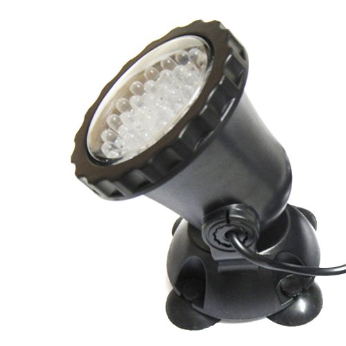 ColorMax Waterproof 36 LED 3 Color Submersible Spot Light for Water Garden Pond Fish Tank - US Plug