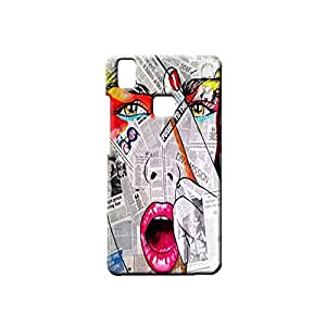 BLUEDIO Designer Printed Back case cover for VIVO V3 - G7850