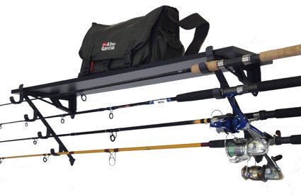 Rack-It-Up Fishing Rod Wall Rack and Tackle Box