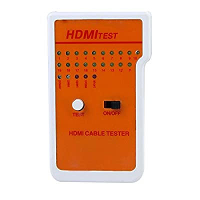 Optimal Shop New Portable 9 LED Indicators HDMI High Definition Cable Tester Tool with Storage Case T0708 T15