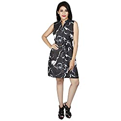 LALANA Multicolor Abstract Print Silk Cotton Dress