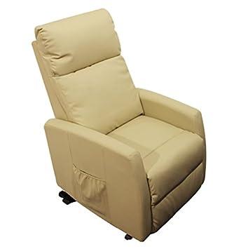 RR Design - Poltrona relax SLIM Sofia con lift alzapersona col Beige (crema)