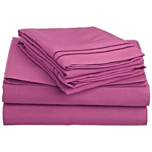1500 Series QUEEN 4PC Bed Sheet Set Microfiber, Deep Pocket, PINK
