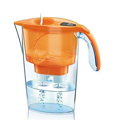 Laica Streamline Caraffa Filtrante, Acqua filtrata 1.2 L, Arancione, Incluse 3 cartucce