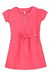 Chalk by Pantaloons Girl's Skater Dress ( 205000005606830, Pink, 5-6 Years)