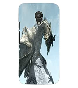ColourCraft Dragon Design Back Case Cover for MOTOROLA MOTO G2
