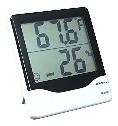 Digital Hygrometer - Indoor Humidity and Temperature Sensor - Accurate Readings - Easy Installation