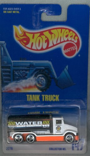 Hot Wheels #147 Tank Truck White w/Black Tank Collectible Collector Car 1:64