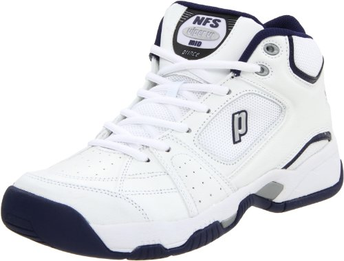 Prince Viper VI Mid Tennis Shoe,White/Navy/Silver,9 D US