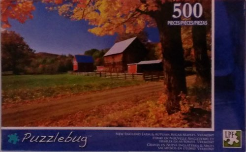 Puzzlebug - New England Farm and Sugar Maples, Vermont - 500 Piece