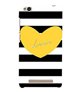 Love Heart Yellowish Cute Fashion 3D Hard Polycarbonate Designer Back Case Cover for Xiaomi Redmi 3s :: Xiaomi Redmi 3s Prime