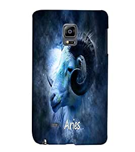PrintVisa Zodiac Aries 3D Hard Polycarbonate Designer Back Case Cover for Samsung Galaxy Note Edge