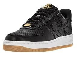 Nike Women\'s Air Force 1 \'07 Prm Black/Black/Summit White Basketball Shoe 8.5 Women US