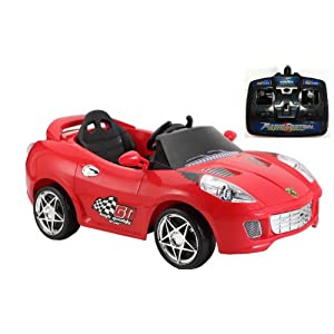 Charles Jacobs Kids RIDE ON SPORT Style Car Battery Powered Toy in RED w/ 1 YEAR 5 STAR WARRANTY!