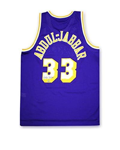 Steiner Sports Memorabilia Kareem Abdul-Jabbar Autographed Purple Adidas Los Angeles Lakers Jersey