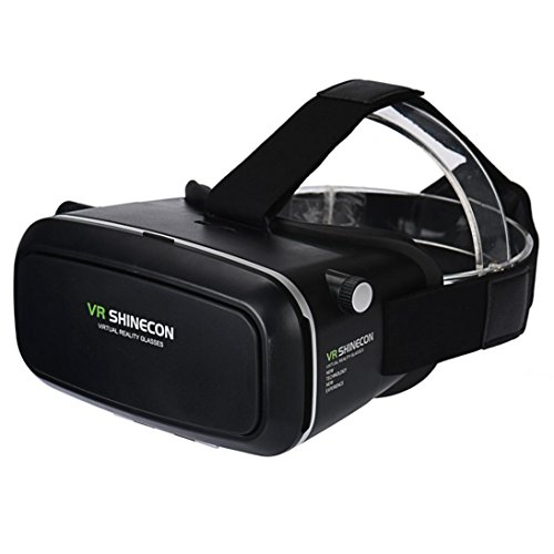 3D Glasses, Dreaman 3D Virtual Reality VR Shinecon 3D Glasses Head Mount Movies Games for Smartphone