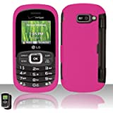 Importer520 Rubberized Snap-On Hard Skin Protector Case Cover for For (Verizon) LG Octane VN530 - Rose Pink