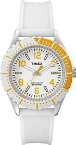Timex Trend - Reloj analógico de cuarzo unisex con correa de resina, color blanco