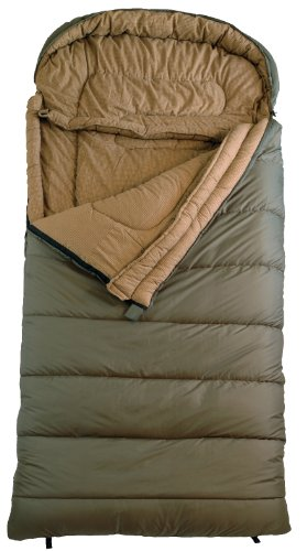 TETON Sports Celsius Regular -18 Degree C / 0 Degree F Flannel Lined Sleeping Bag (80″x 33″, Green, Right Zip)