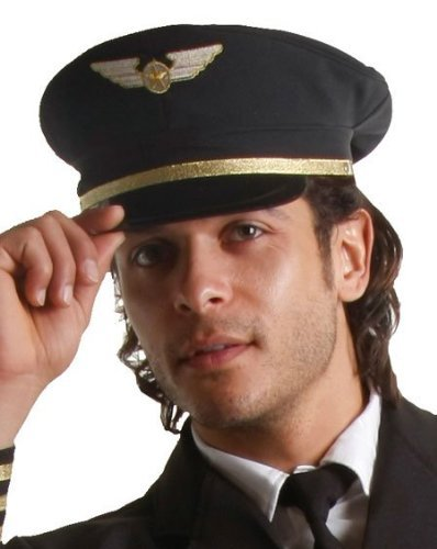Airline Pilot Hat Adult Costume Accessory