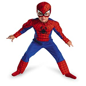 Toddler Muscle Spiderman Costume