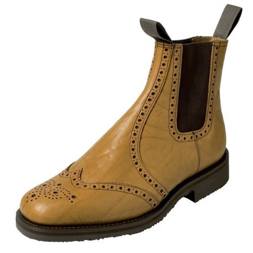 Hoggs of Fife Banbury Brogue Market Boot (leather soled)