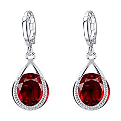 Sorella'z Red Oreille Earrings for Women's