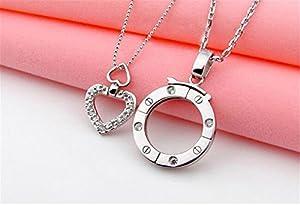HITOP Mode Charme klassischen Himmelsleiter die gleichen Absatz Paar Halskette (dicken Silber )