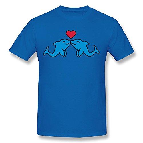 Chadlavigne 100% Cotton Men'S Dolphin Love T-Shirt