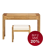 Sonoma Light Dressing Table & Stool