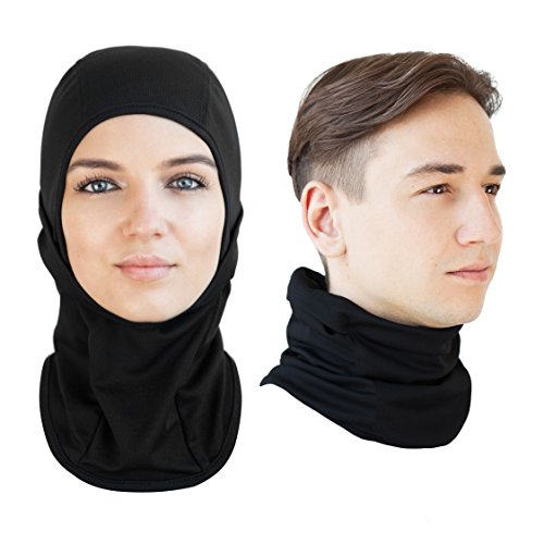 Multipurpose Balaclava Face Mask and Neck Tube Gaiter Headband - Ski, Snowboard, Motorcycle Face and Neck Protection Bundle - Lifetime Guarantee (Face Mask Open Face compare prices)