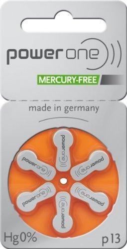 Varta Powerone p13 Lot de 60 piles sans mercure pour appareils auditifs