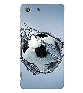 D KAUR Football & Water Back Case Cover for Sony Xperia M5::Sony Xperia M5 Dual