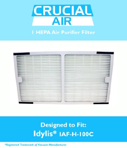 Idylis HEPA Air Purifier Filter; Fits Idylis Air Purifiers IAP-10-200, IAP-10-280; Model # IAF-H-100C; Designed & Engineered by Crucial Air (Air Purifier Filter Idylis compare prices)