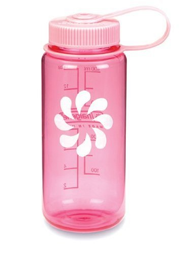 Nalgene BPA Free Tritan Wide Mouth Water Bottle, 16 Oz, Pink