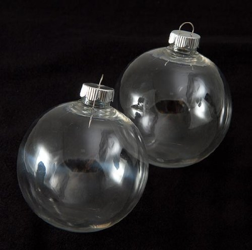 Clear plastic ornament balls 10 cute ways to use them for Clear christmas bulbs for crafting