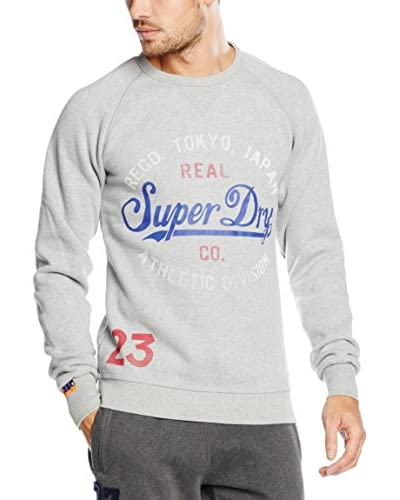 Superdry Sweatshirt Athletic Division-Entry Crew grau meliert