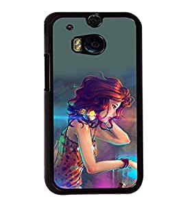 printtech Beautiful Anime Girl DJ Back Case Cover for HTC One M8::HTC M8
